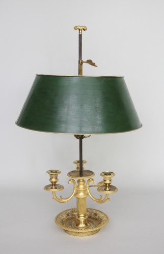 "18th century - A late 18th century ""Bouillotte"" lamp"