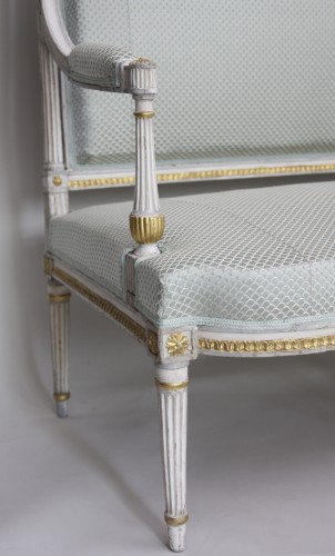 Louis XVI Gilt and Lacquered Wood Grand Salon  -