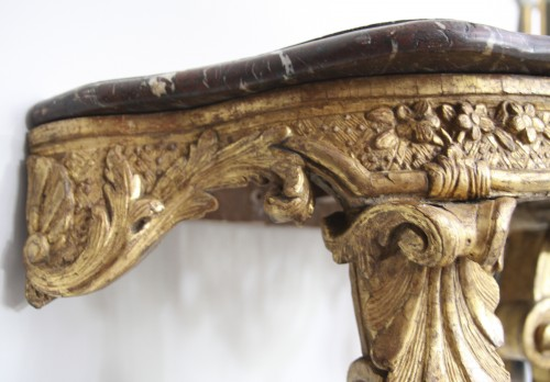 French Régence Gilt wood Console - Furniture Style French Regence