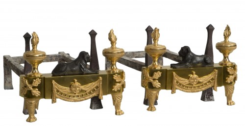Pair of French Empire andirons
