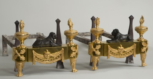Empire - Pair of French Empire andirons