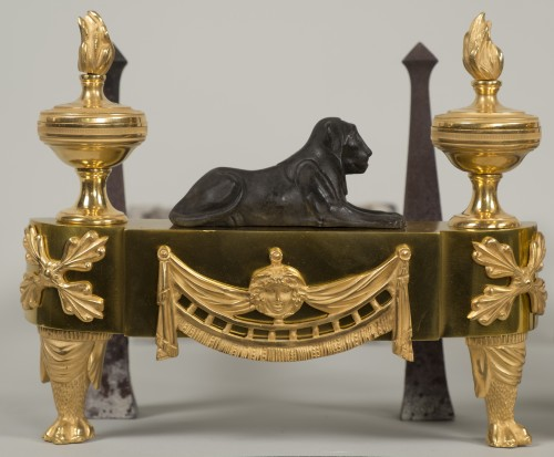 Antiquités - Pair of French Empire andirons