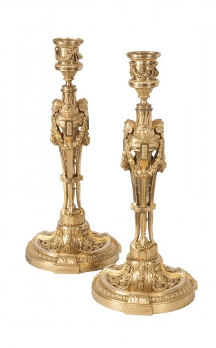 Pair of candlesticks after a model by Martincourt