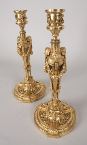 Lighting  - Pair of candlesticks after a model by Martincourt