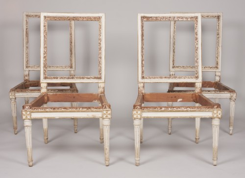 Set of four Louis XVI chairs