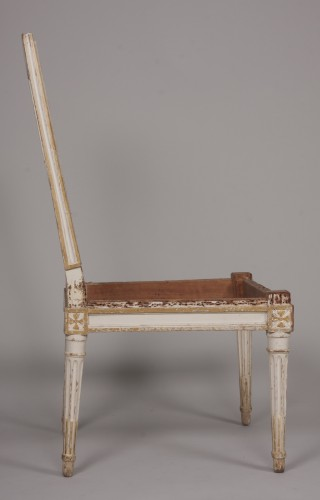 Seating  - Set of four Louis XVI chairs