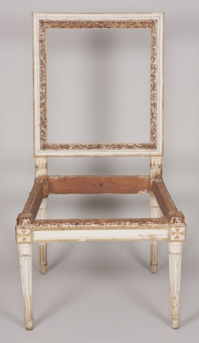 Set of four Louis XVI chairs -