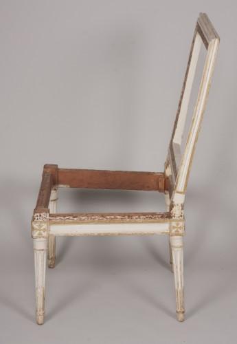 18th century - Set of four Louis XVI chairs