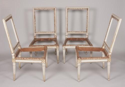 Louis XVI - Set of four Louis XVI chairs