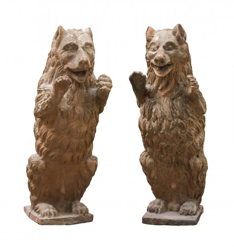 Pair of terra cotta great bears from 19th century