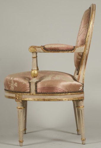 Antiquités - Pair Of Armchairs by Delaunay