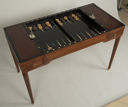 Furniture  - Louis XVI tric trac table attributed to Fidelys Schey