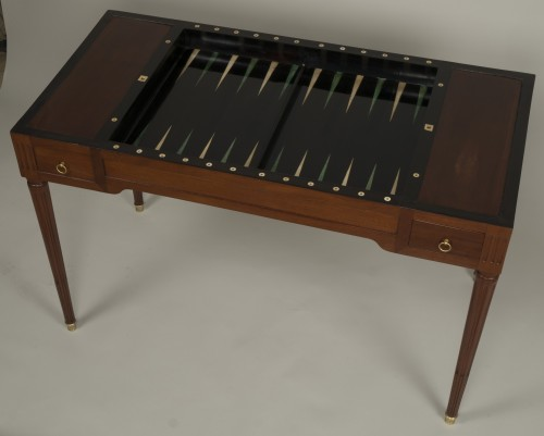 18th century - Louis XVI tric trac table attributed to Fidelys Schey