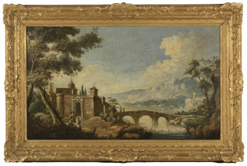 Animated Landscape, circle of Marco Ricci (1676-1730)