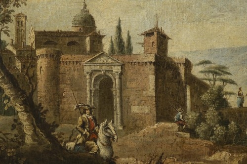 Animated Landscape, circle of Marco Ricci (1676-1730) - Paintings & Drawings Style