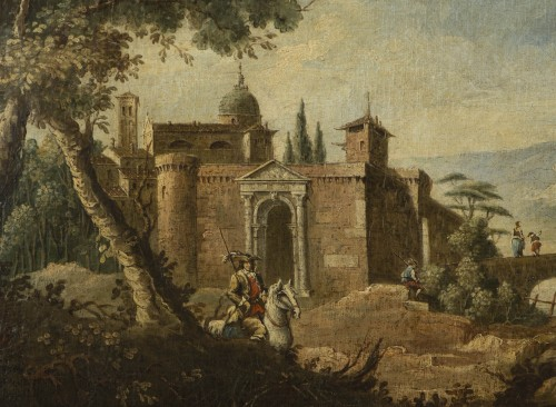 Paintings & Drawings  - Animated Landscape, circle of Marco Ricci (1676-1730)