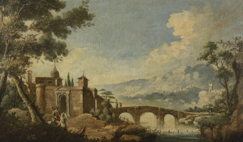- Animated Landscape, circle of Marco Ricci (1676-1730)
