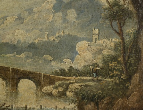 Antiquités - Animated Landscape, circle of Marco Ricci (1676-1730)