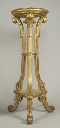 Pair of giltwood and stucco stands -