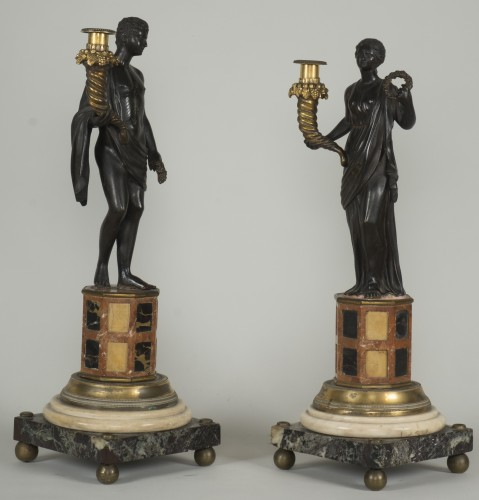Pair of 18th century Italian candelabras - Lighting Style