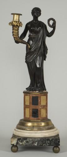 Pair of 18th century Italian candelabras -