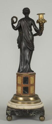 Antiquités - Pair of 18th century Italian candelabras