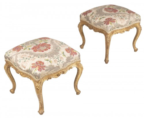 Pair Of Venetian Stools From The 18th Century