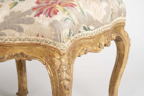 Seating  - Pair Of Venetian Stools From The 18th Century