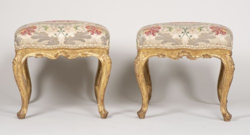 Pair Of Venetian Stools From The 18th Century -