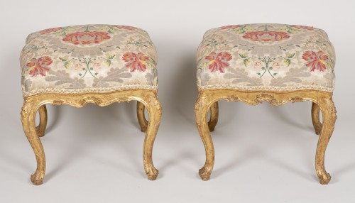 18th century - Pair Of Venetian Stools From The 18th Century