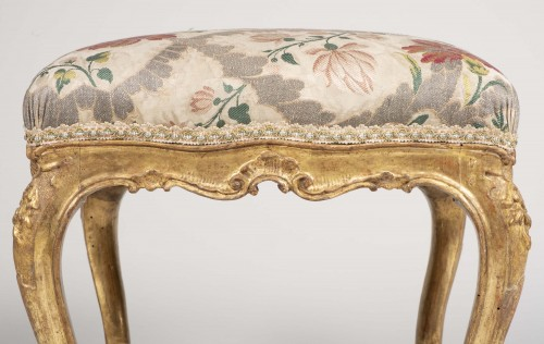 Antiquités - Pair Of Venetian Stools From The 18th Century