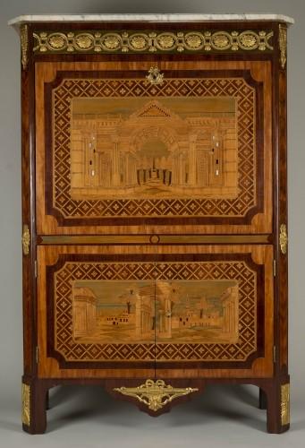 Antiquités - 18th Century Secretaire Abattant by Letellier