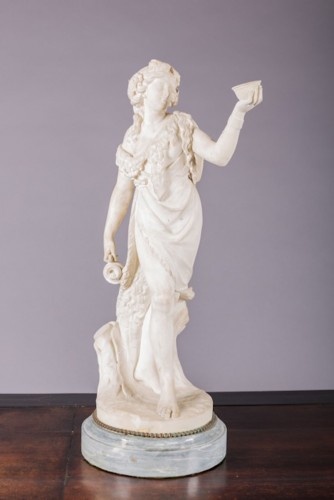 19th century - White Marble Bacchus & Bacchae
