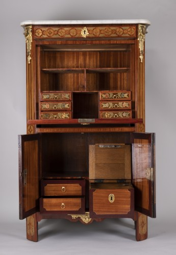 Antiquités - Chest Of Drawers And Secretary Stamped Reizell