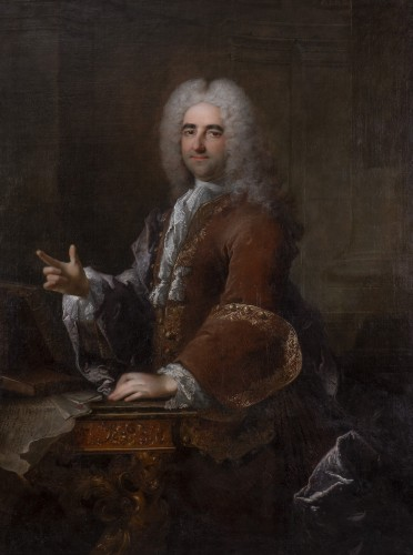 Robert LE VRAC TOURNIERES - Portrait of once called Duc de Saint-Simon - Paintings & Drawings Style