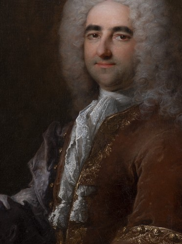 Robert LE VRAC TOURNIERES - Portrait of once called Duc de Saint-Simon -