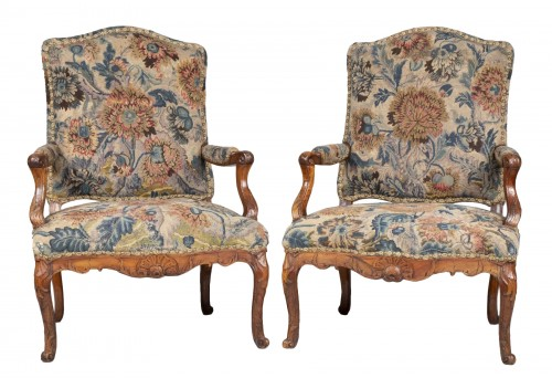 Pair Of French Régence Armchairs