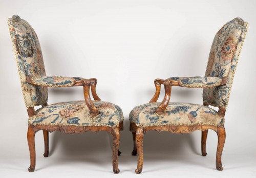 Pair Of French Régence Armchairs - Seating Style French Regence