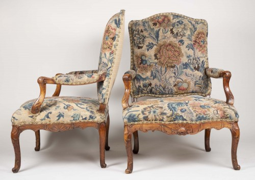 Seating  - Pair Of French Régence Armchairs