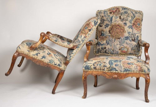 Pair Of French Régence Armchairs -