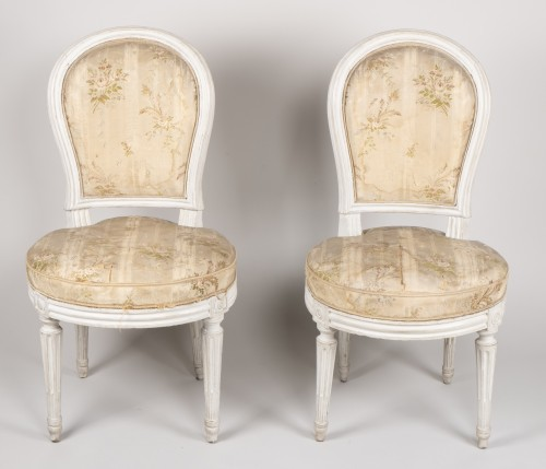 Pair Of Bedroom Chairs By Henri Jacob - Seating Style Louis XVI
