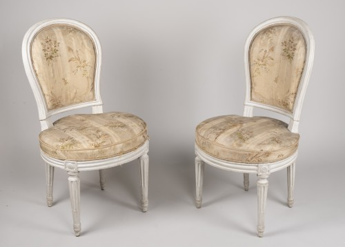 18th century - Pair Of Bedroom Chairs By Henri Jacob