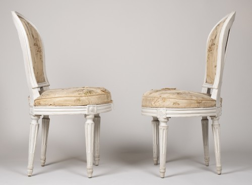 Pair Of Bedroom Chairs By Henri Jacob - Louis XVI