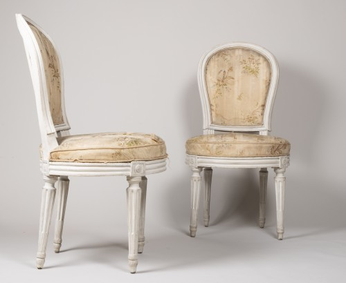 Louis XVI - Pair Of Bedroom Chairs By Henri Jacob