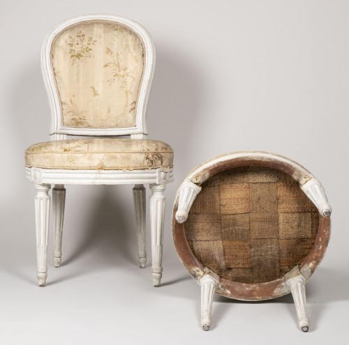 Antiquités - Pair Of Bedroom Chairs By Henri Jacob