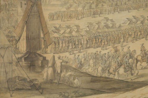 Charles Cozette_View on Furnes siege and View of the encampment of Courtrai - Louis XV