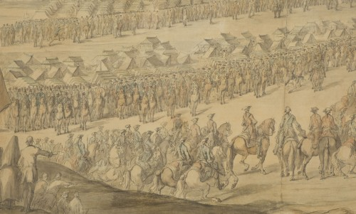 Louis XV - Charles Cozette_View on Furnes siege and View of the encampment of Courtrai