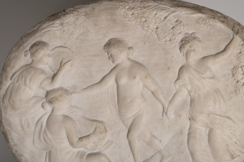 17th century marble relief a bacchanalian scene - Sculpture Style