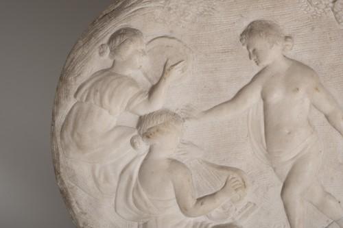 17th century marble relief a bacchanalian scene -