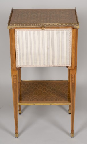 Furniture  - Small Table with 3 drawers stamped G.DESTER